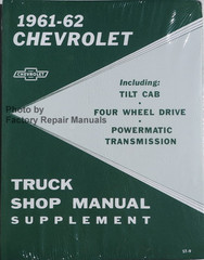 1960-61-62 Chevrolet Truck Shop Manual Supplement