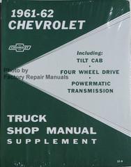 1960-61-62 Chevrolet Truck Shop Manual Supplement