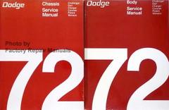 1972 Dodge Challenger Dart Charger Coronet Polara Monaco Service Manual Volume 1, 2