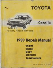 1983 Toyota Corolla Repair Manual