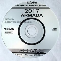 2017 Nissan Armada Service Information Manual CD