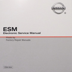 2017 Nissan Frontier ESM Electronic Service Manual CD