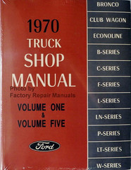 1970 Ford Truck Shop Manuals Volume 1, 2, 3, 4, 5