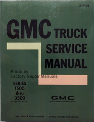 1971 GMC Truck Suburban Jimmy Van Factory Shop Service Manual Reprint