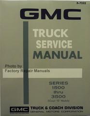 1972 GMC Truck Service Manual Series 1500 thru 3500 Except G Models