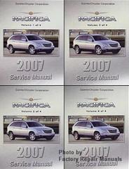 2007 Chrysler Pacifica Service Manual Volume 1, 2, 3, 4