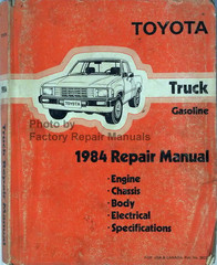 Toyota Truck Gasoline 1984 Repair Manual