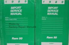1989 Dodge Ram 50 Service Manual Volume 1, 2