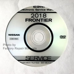 2018 Nissan Frontier ESM Electonic Service Manual CD-ROM