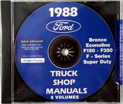 1988 Ford Bronco Econoline F150 - F350 F-Supertudy Truck Shop Manuals 5 Volumes