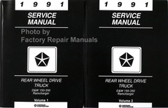 1991 Service Manual D&W 150-350 Ramcharger