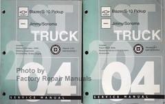 2004 Service Manual ST Truck Chevrolet Blazer/S-10 Pickup GMC Jimmy/Sonoma Volume 1, 2