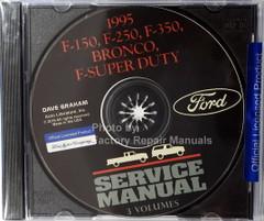 1995 Ford F150 F250 F350 Truck F-Super Duty Bronco Service Manual 3 Volumes on CD