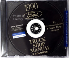 1990 Ford Econoline F150 F250 F350 Truck Bronco Shop Manual CD