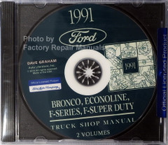 Bronco, Econoline, F-Series, F-Super Duty Truck Shop Manual Volume 1, 2 on CD