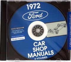1972 Ford Lincoln Mercury Car Shop Manual Volume 1, 2, 3, 4, 5 on CD