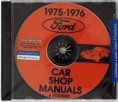 1975 1976 Ford Mercury Lincoln Car Shop Manual Volumes 1 through 5 on CD