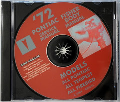 1972 Pontiac Service Manual and Fisher Body Manual on CD