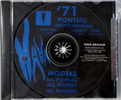 1971 Pontiac Service Manual and Fisher Body Manual on CD