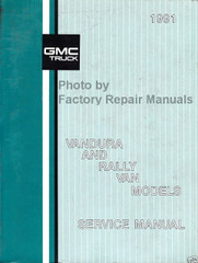1991 GMC Rally Van and Vandura Models Service Manual
