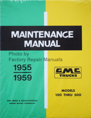 1955-1959 GMC Truck Service Manual 100-500