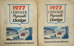 1977 Chrysler Plymouth Dodge Service Manual Volume 1 and 2