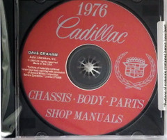 1976 Cadillac Shop Manual and Fisher Body Manual on CD
