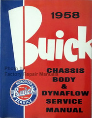 1958 Buick Chassis, Body & Dynaflow Service Manual