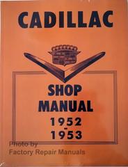Cadillac Shop Manual 1952 1953