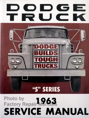 "Dodge Truck Service Manual ""S"" Series 1963"