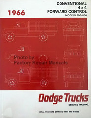 1966 Dodge Pickup Truck 100-700 Service Manual