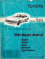 Toyota Celica Supra 1984 Repair Manual Engine Chassis Body Electrical Specifications