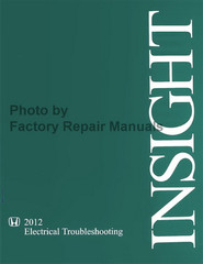 2012 Honda Insight Electrical Troubleshooting Manual