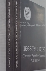 1968 Buick Chassis Service Manual All Series Spine View