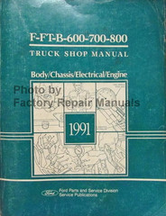 1991 Ford F and B 600 - 700 - 800 - 900 Service Manual