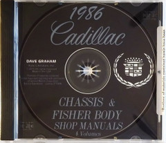 1986 Cadillac Factory Shop Service Manual and Body Repair Manual CD