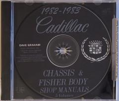 1982 1983 Cadillac Factory Shop Service Manual and Body Repair Manual CD