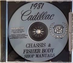 1981 Cadillac Factory Shop Service Manual and Body Repair Manual CD