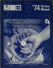 1974 Pontiac Service Manual