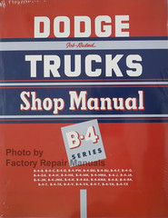 1953 Dodge Truck Shop Manual B-4 Series