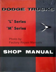 1958 1959 Dodge Truck Shop Manual L Series M Series