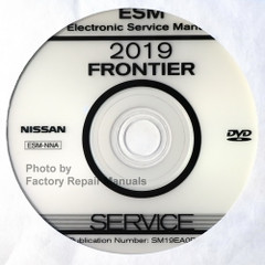 2019 Nissan Frontier ESM Electronic Service Manual CD