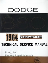 1964 Dodge Custom Eight Eighty Passenger Car Service Manual