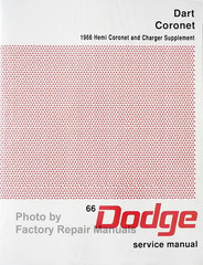 1966 Dodge Dart Coronet Charger Service Manual