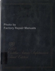 1984 Cadillac Service Information Final Edition