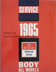 1965 Buick Body Service Manual All Series