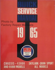 1965 Buick Gran Sport Special Skylark Chassis Service Manual 43000 and 44000 Models