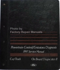 1997 Ford Powertrain Control/Emissions Diagnosis Service Manual Car/Truck On Board Diagnosics II