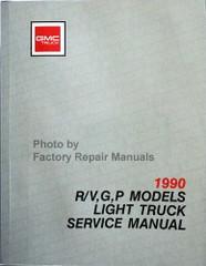 1990 GMC Truck R/V, G, P Models Service Manual