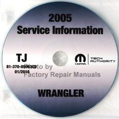 2005 Jeep Wrangler Service Information Manual